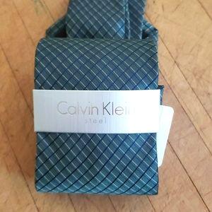 Calvin Klein Steel Plaid Necktie - Men's
